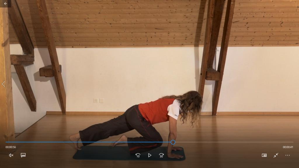 Kräftigung: Hamstring-Plank